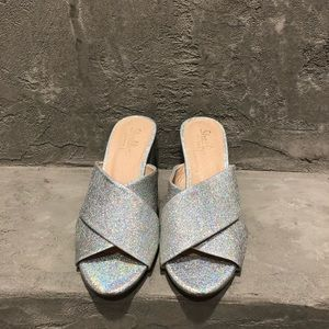 Shelly's London Silver Sparkle Sandal